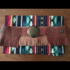 Free People Fringe Leather Hippie Belt